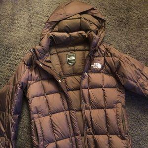 Women's long North Face coat